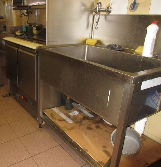 PA ložné plochy v úseku mytí nádobí