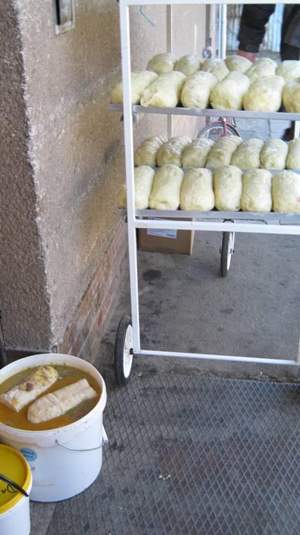 knedlíky chlazené na rampě, nechráněné proti kontaminaci