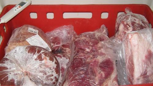zamražené maso dodané do provozovny jako chlazené