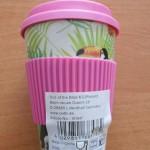 Bambusový hrnek se silikonovým víčkem tukan-No.101847 foto