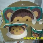 Dětský set bambusového nádobí foto