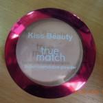 Super - blendable powder true match zn. Kiss Beauty  zepředu foto