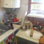 umyvadlo pro mytí rukou ve stánku občerstvení